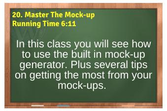 WordPress eCommerce PLR4WP Vol11 Video 20-Master The Mock-up