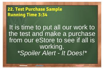 WordPress eCommerce PLR4WP Vol11 Video 22-Test Purchase Sample