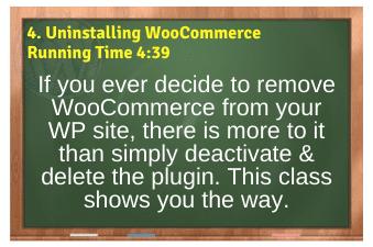 WordPress eCommerce PLR4WP Vol11 Video 4-Uninstalling WooCommerce