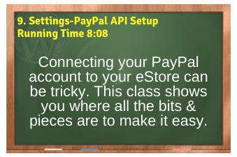 WordPress eCommerce PLR4WP Vol11 Video 9-Settings-PayPal API Setup
